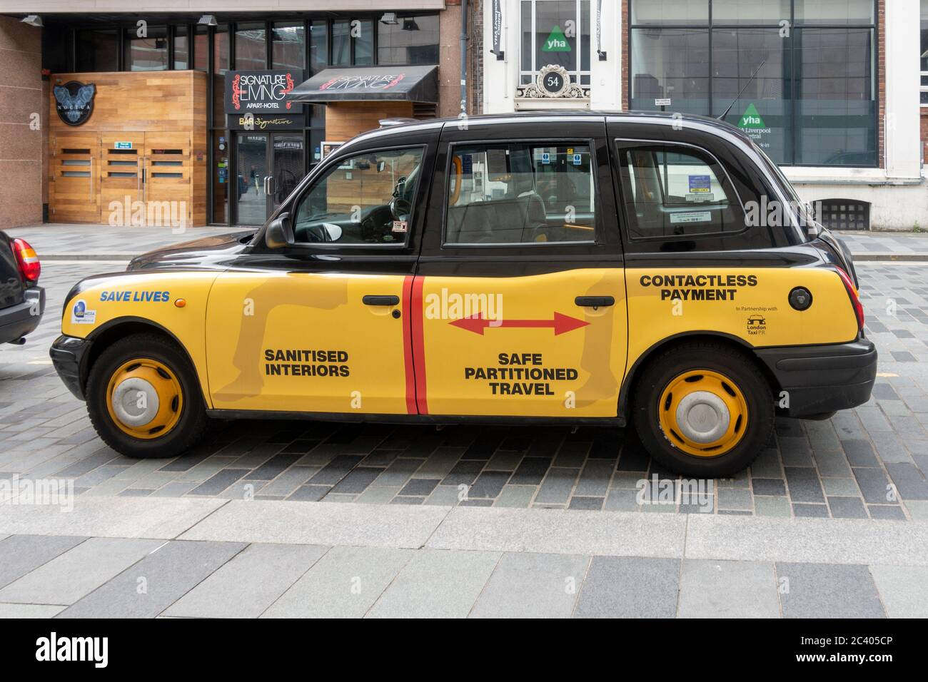 taxi-for-hire-with-safety-health-notices