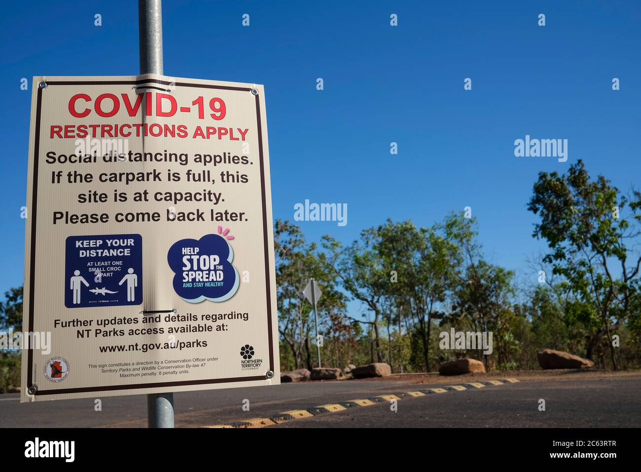 a-covid-19-sign-at-the-entrance-of-litch