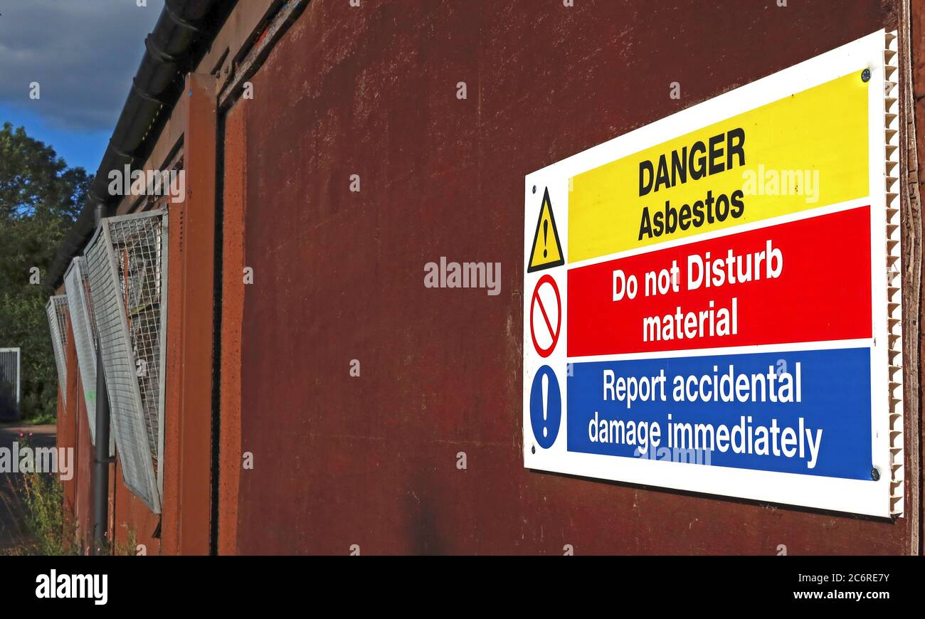 GoTonySmith,HotpixUK,@HotpixUK,England,Cheshire,UK,ACM,Do not disturb,material,hazard,Danger,sign,on building,building,prefab,health safety,health and safety,Control of Asbestos Regulations 2012,asbestos regulations,HSE,asbestos containing materials,licensed work,asbestos removal,removal,licensed contractor