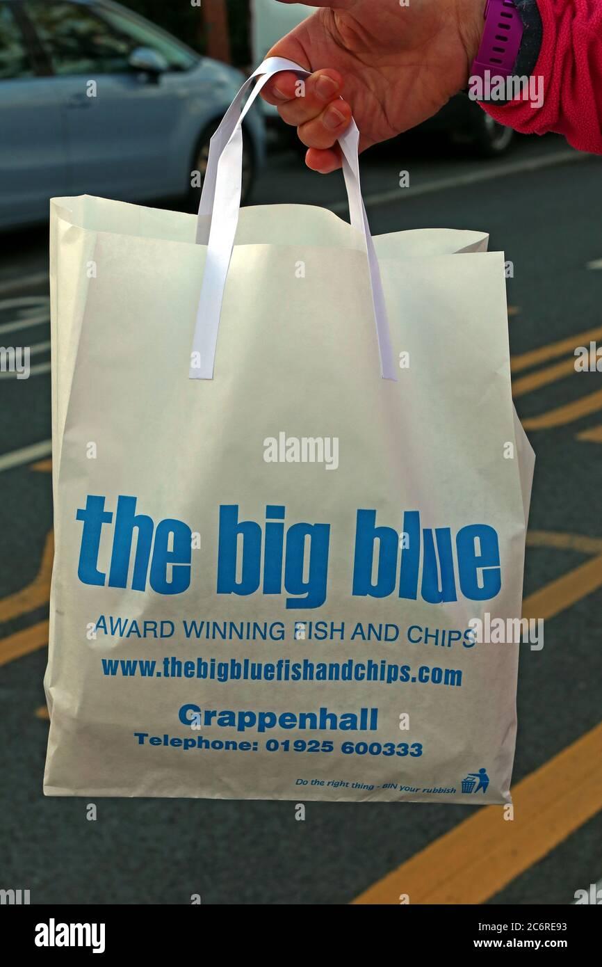 GoTonySmith,HotpixUK,@HotpixUK,England,Cheshire,UK,Warrington,Thelwall,food,Big Blue,Chippy,fish & chips,fish,chips,fried,award winning,awards,shop,retail,Knutsford Rd,WA4,bag,white bag,designer bag