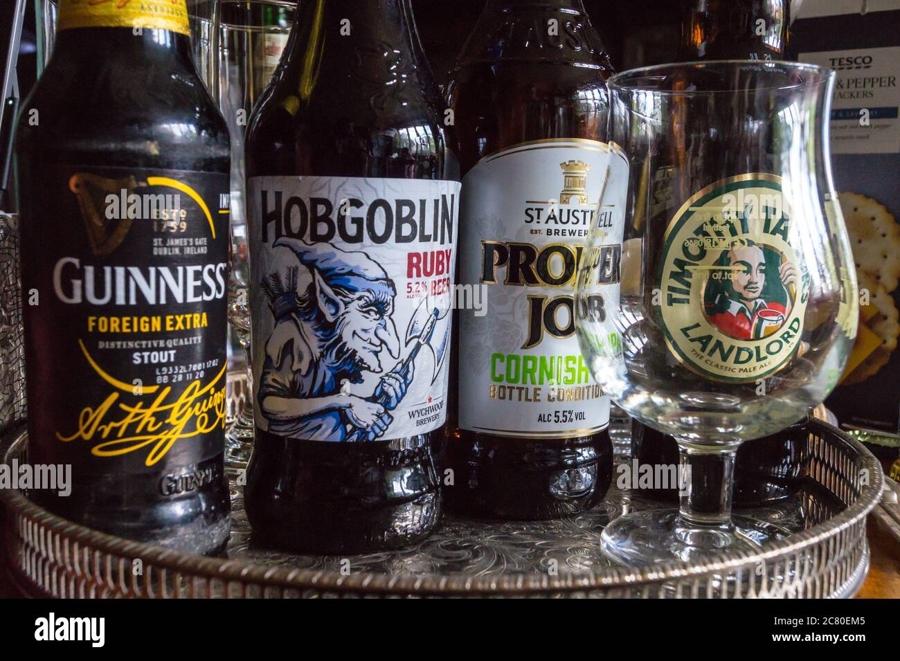 bottles-of-beer-on-a-dining-table-selected-for-an-online-camra-beer-tasting-event-during-covid-19-pandemic-2C80EM5.jpg