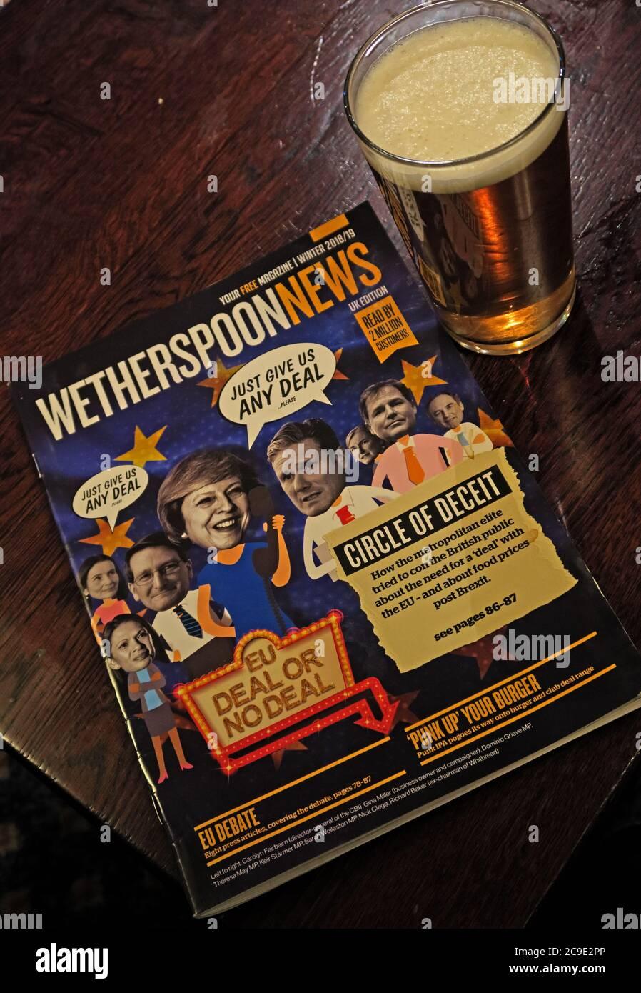 GoTonySmith,HotpixUK,@HotpixUK,England,UK,British,Great Britain,pub,bar,News,newspaper,Brexit,reading,Wetherspoon bar,Tim Martin,ale,pint,pint of bitter,pint of beer,Circle Of Deceit,EU debate,Wetherspoons,Neverspoons