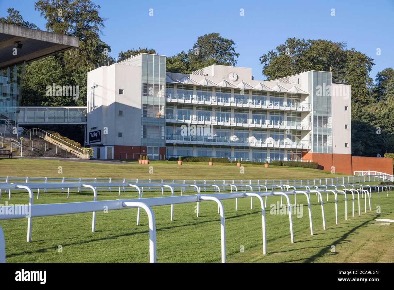 grandstands at sandown park race course near esher surrey Stock Photo