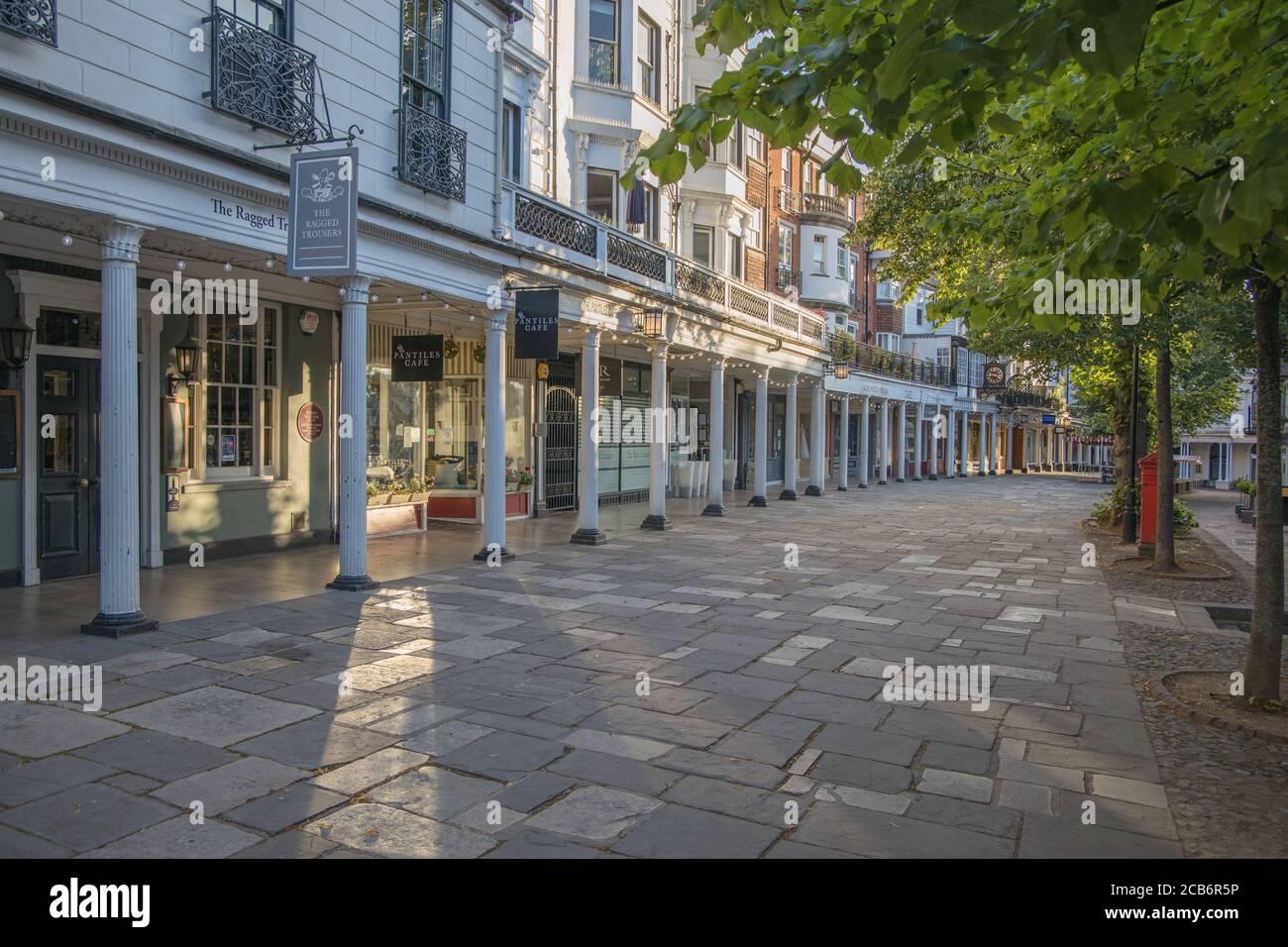 the pantiles shopping area of royal tunbridge wells kent Stock Photo
