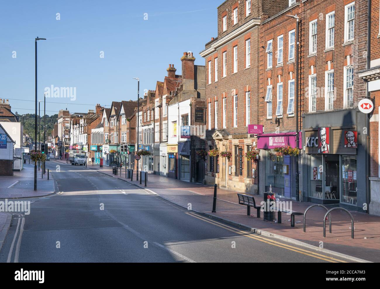the town of tonbridge on the river medway in kent Stock Photo