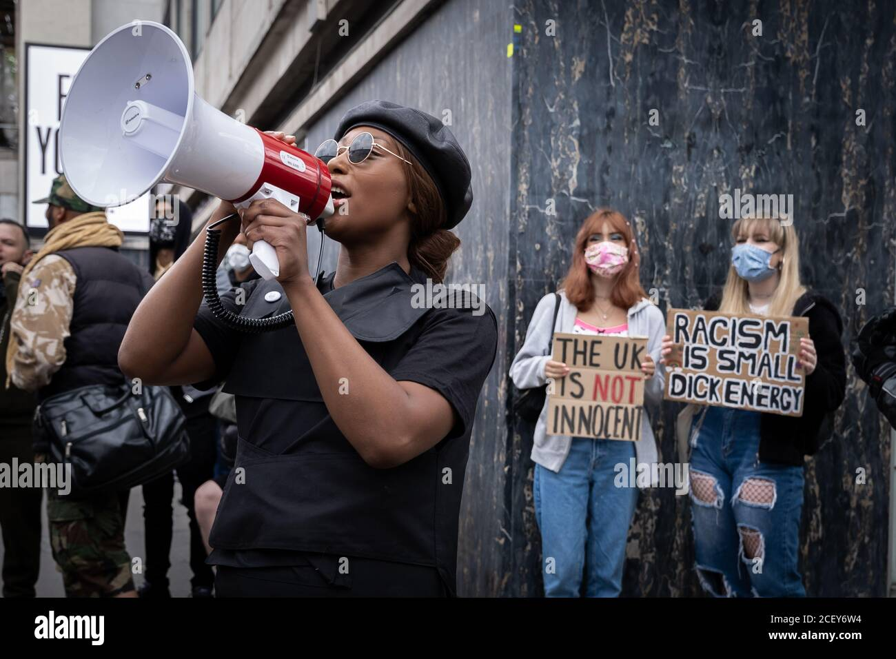Taking The Initiative Party (TTIP) political party, inspired by the Black Lives Matter movement, protest marches from Notting Hill in London, UK. Stock Photo