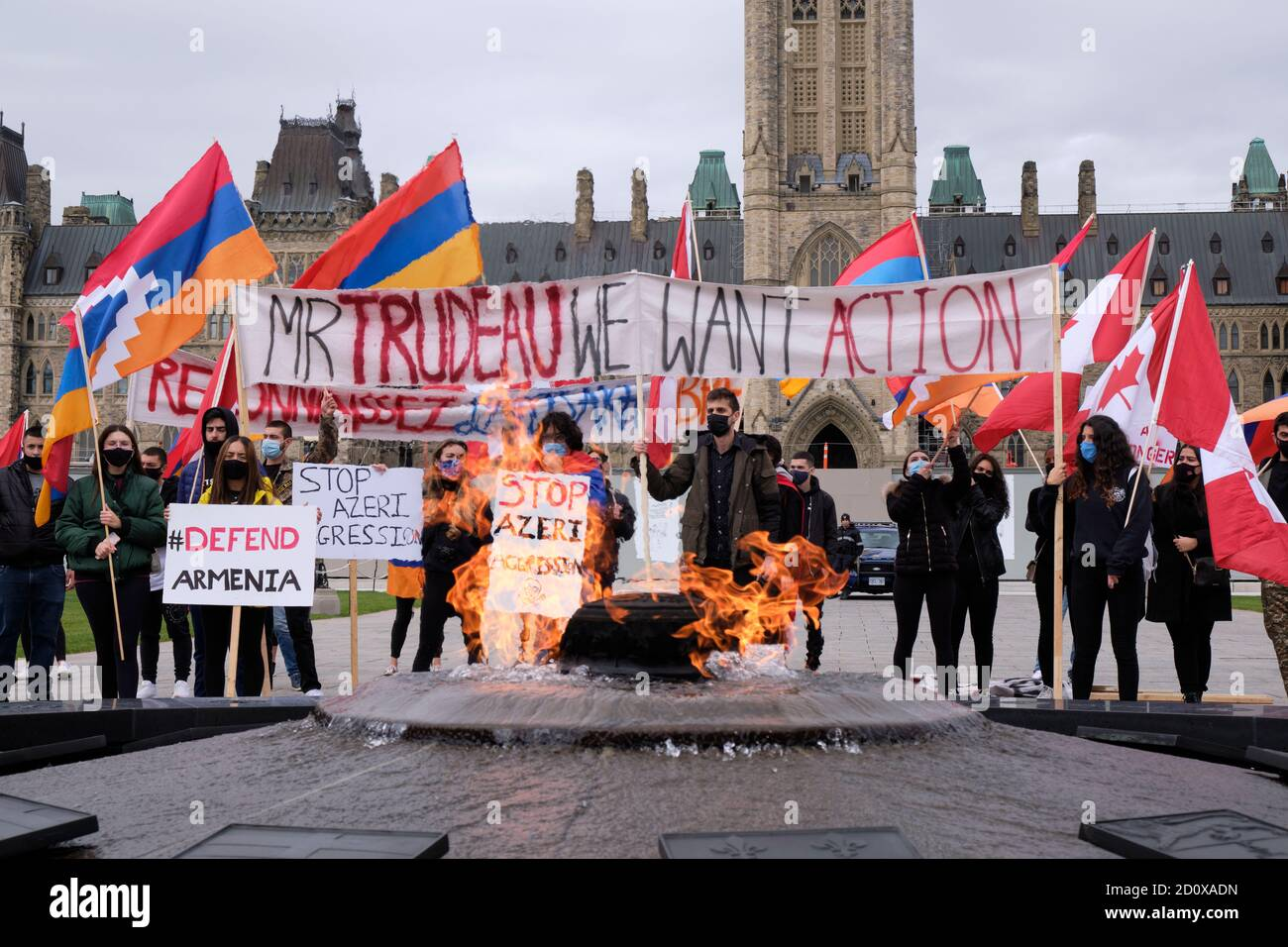 armenian-lead-protest-to-stop-the-azeri-aggression-on-artzakh-in-front-of-canadian-parliament-ottawa-canada-october-3-2020-2D0XADN.jpg