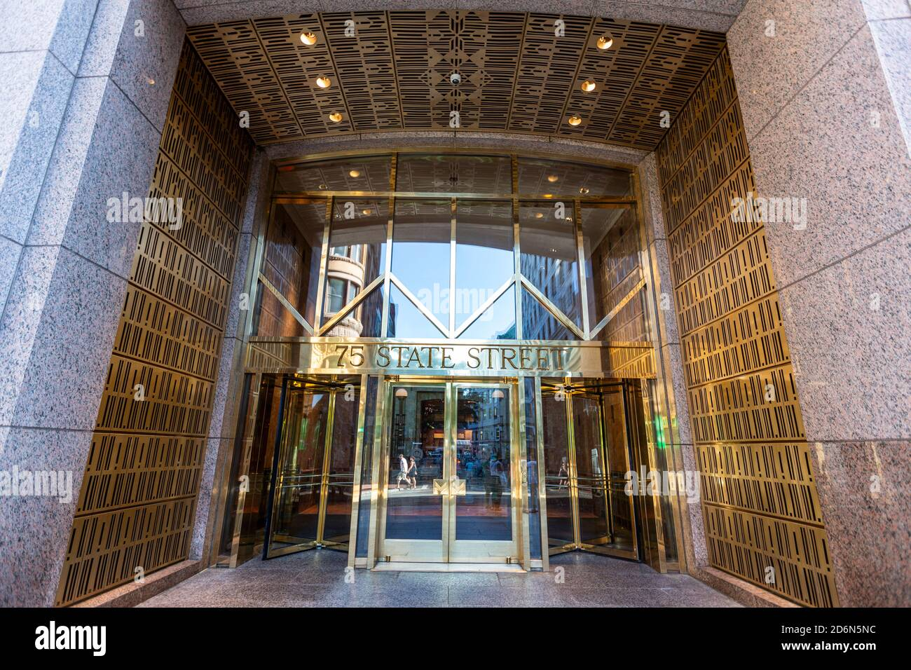 75 State Street, Downtown Boston,Financial District, Boston, Massachusetts, USA Stock Photo