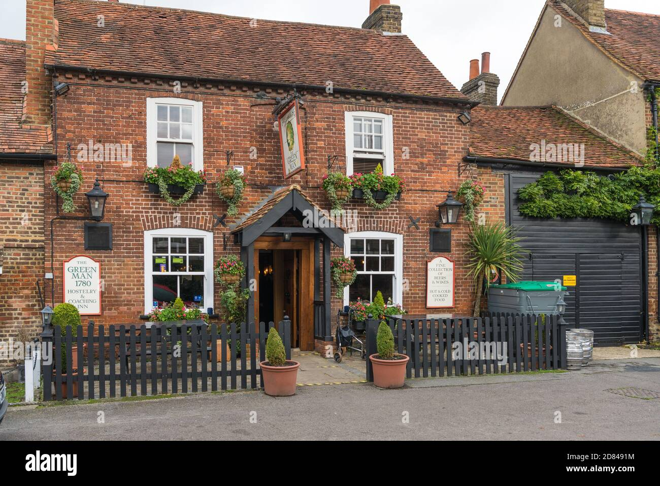 The Green Man, a picturesque old pub in Denham village, Buckinghamshire, England, UK Stock Photo