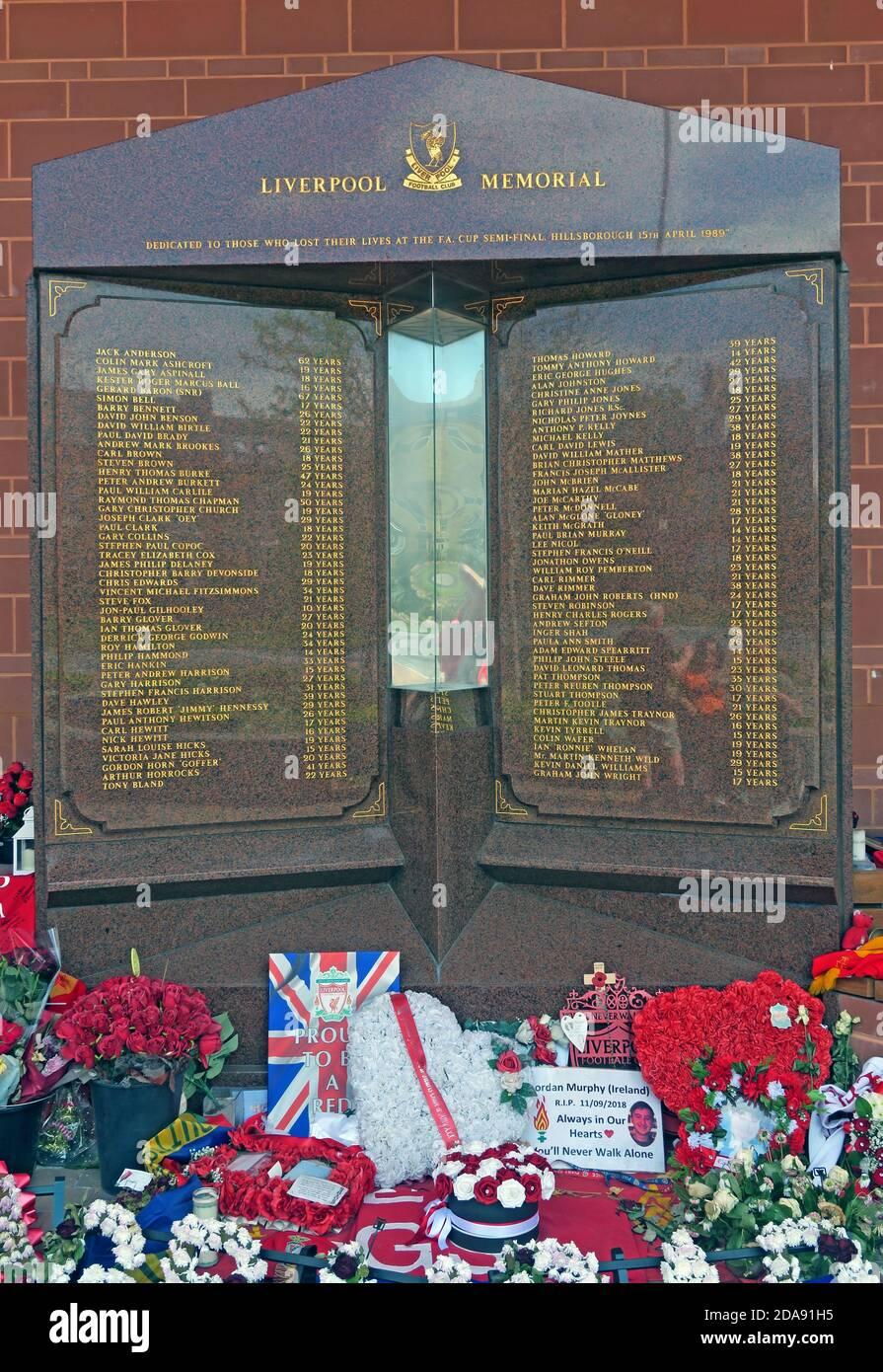 GoTonySmith,HotpixUK,@HotpixUK,red,Liverpool FC,Liverpool Football Club,FC,disaster,memorial,Justice For The 96,Hillsbough,Merseyside,England,UK,names,dead,fans,Hillsborough Stadium,Sheffield,premier league,flowers
