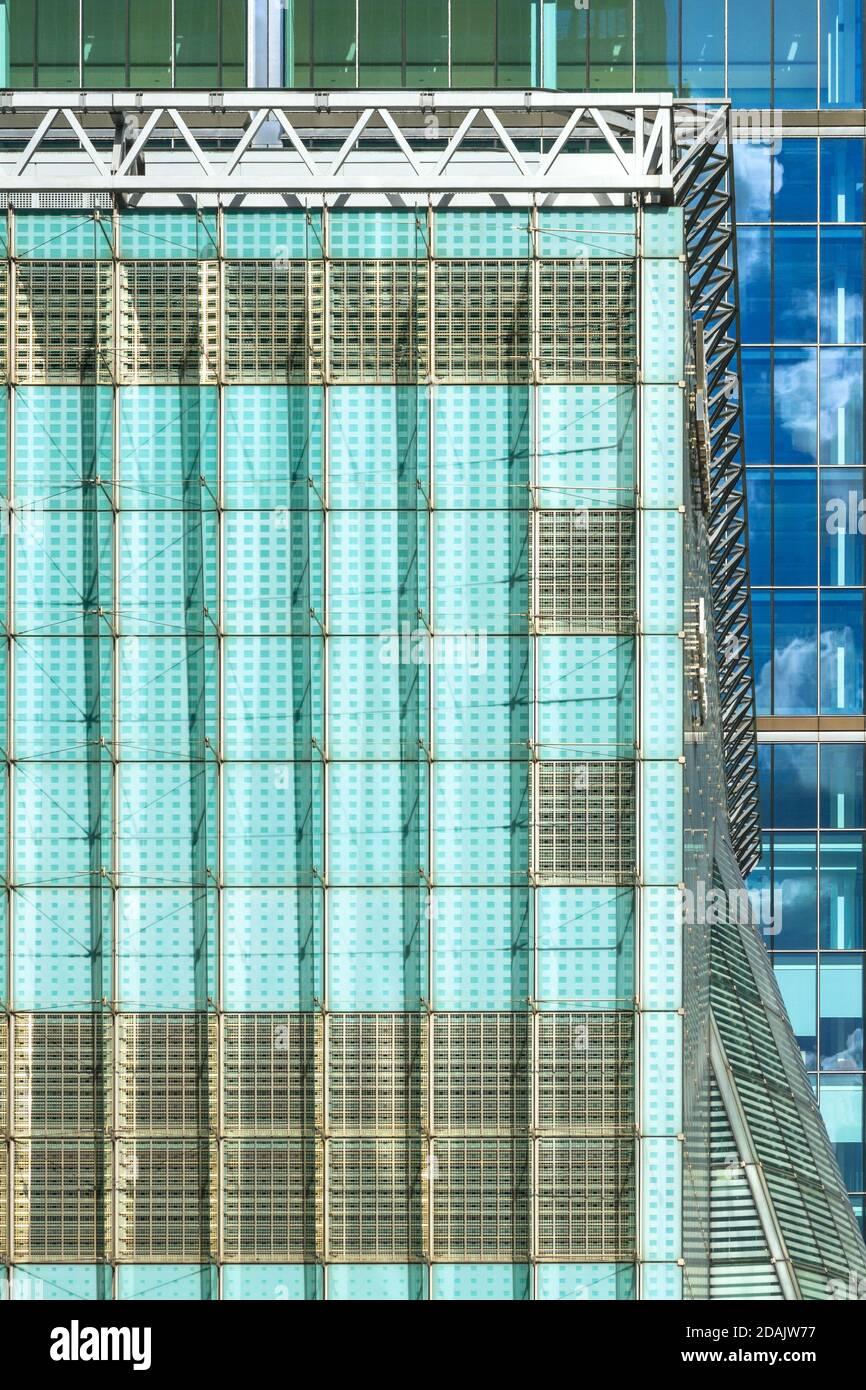 Canary Wharf buildings, london, uk Stock Photo