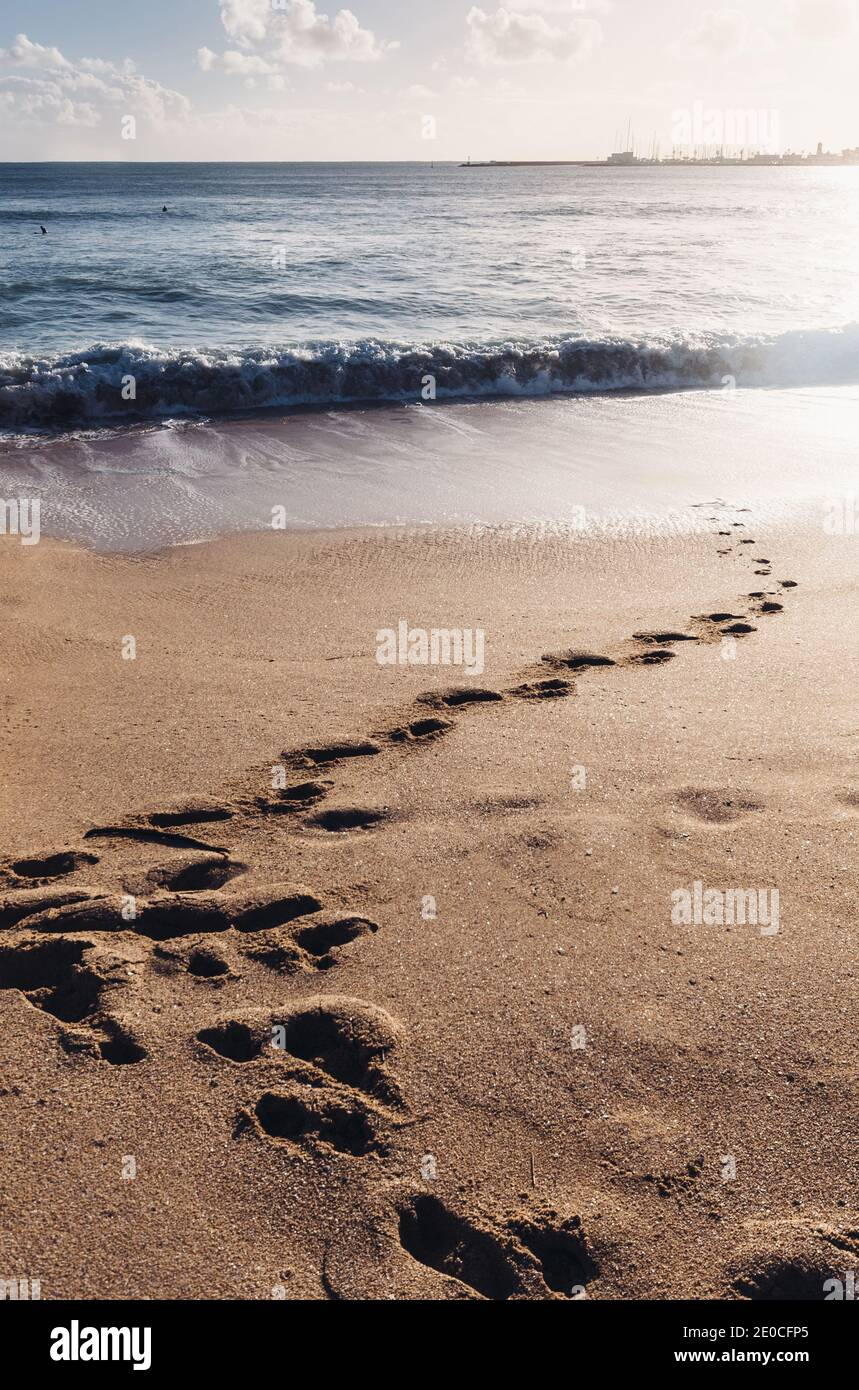 footprints-on-sand-beach-during-winter-captured-in-cascais-portugal-surfers-visible-in-far-background-2E0CFP5.jpg