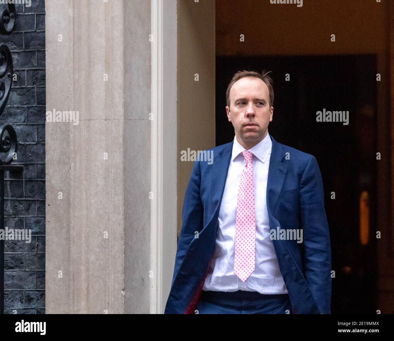 London, UK. 5th Jan, 2021. Matt Hancock, Health Secretary, leaves 10 Downing Streeet London. Credit: Ian Davidson/Alamy Live News Stock Photo