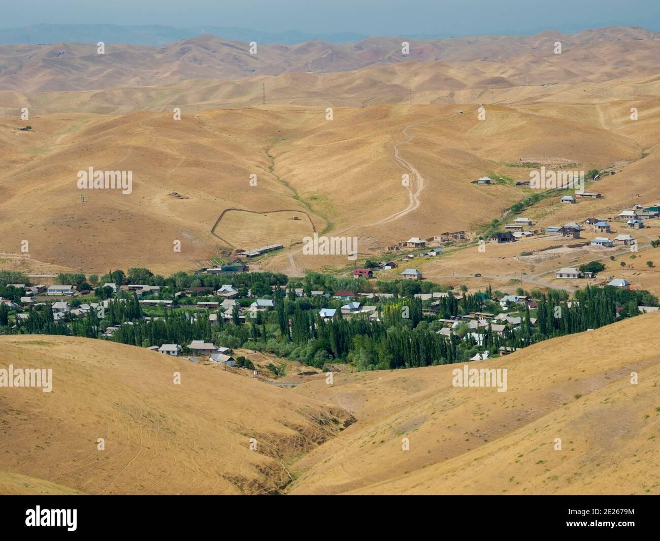 Fergana Valley close to the border to Uzbekistan.  Asia, central Asia, Kyrgyzstan Stock Photo