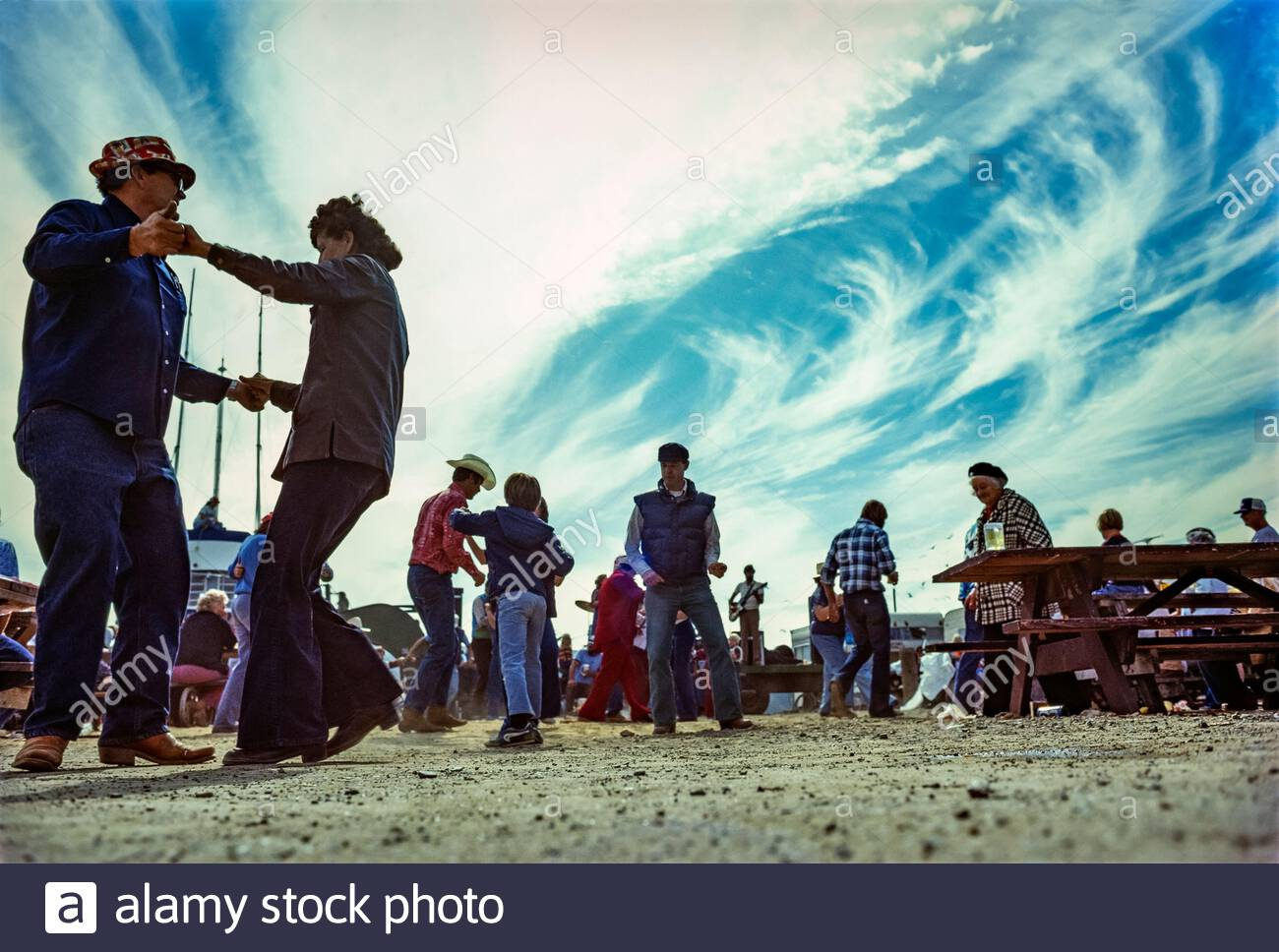 Fisherman's Picnic, Lawson's Landing, Dillon Beach, California, July 1979 Stock Photo