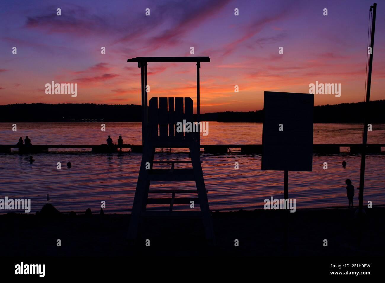 Ukiel lake in Olsztyn Stock Photo