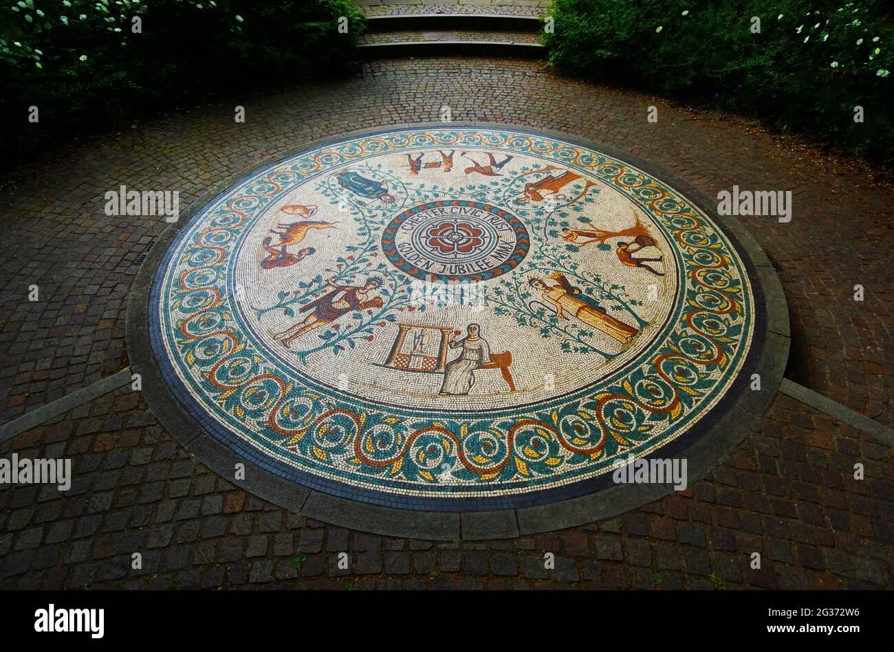 roman-gardens-in-chester-cheshire-2G372W