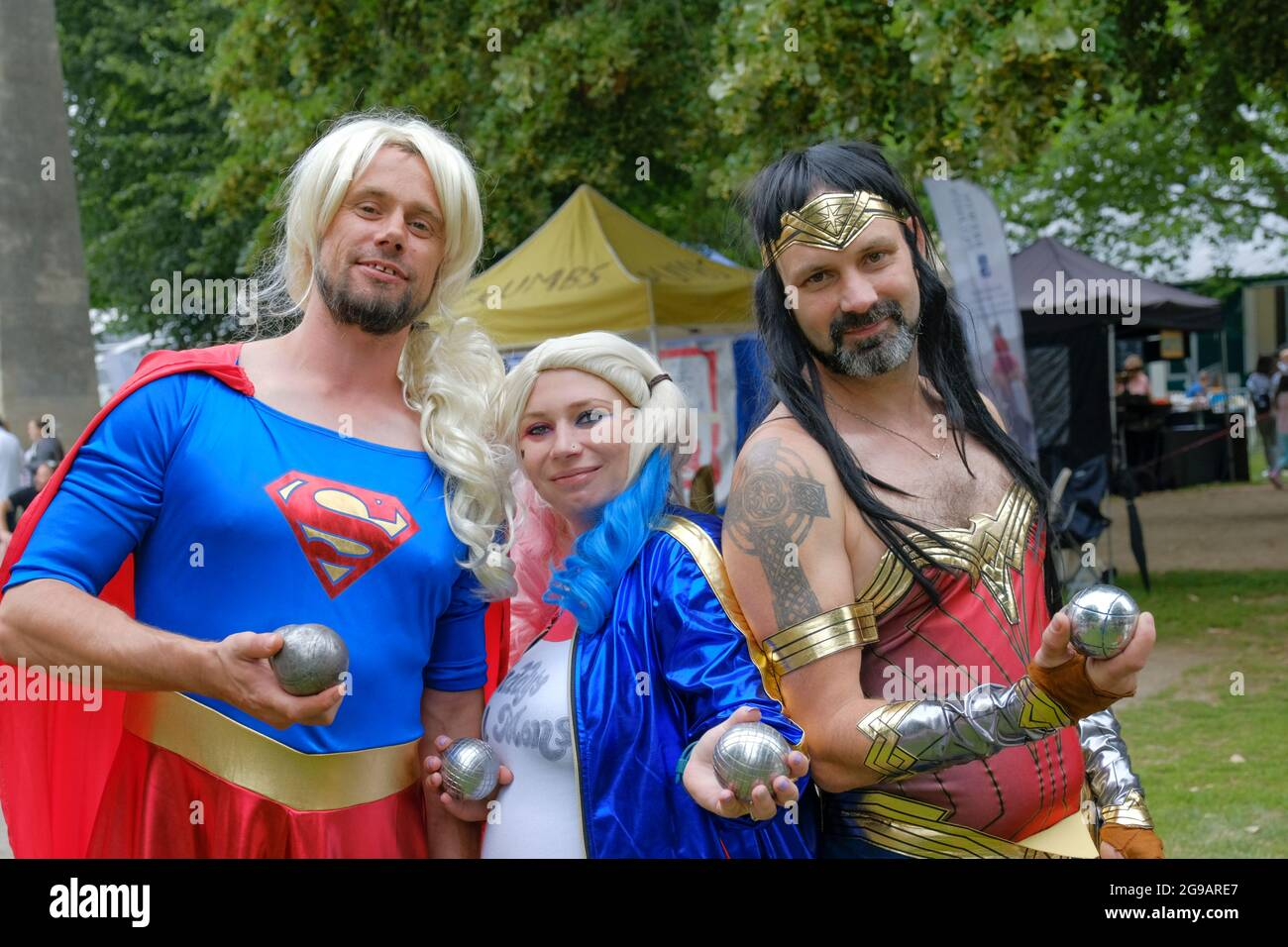 bath-somerset-uk-25th-july-2021-the-annual-bath-boules-festival-reaches-its-third-day-in-queens-square-in-bath-this-charity-event-is-sponsored-by-many-of-the-professional-organisation-with-offices-around-the-square-although-all-are-welcome-pictured-is-the-team-from-the-volunteer-rifle-mans-arms-credit-jmf-newsalamy-live-news-2G9ARE7.jpg