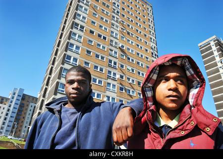 Young Unemployed Youth Leeds UK - Stock Image