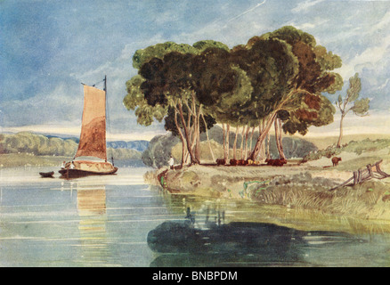 A River Scene - Stock Image