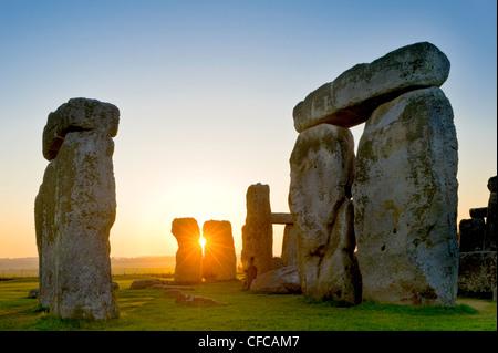 Stonehenge, near Salisbury, Great Britain - Stock Image