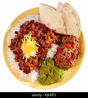 CHILII CON CARNE MEAL CUT OUT - Stock Image