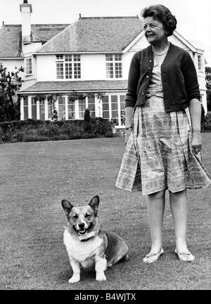 Lady Megan Lloyd George pictured at her home at Brynawelon near Criccieth June 1964 - Stock Image