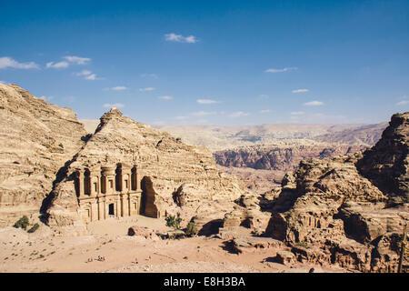 Jordan, Petra, Ad Deir Monastery - Stock Image