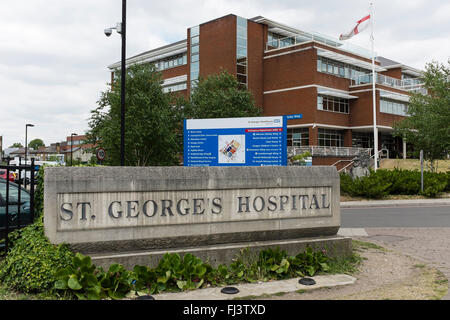 St George's Hospital, Tooting, London, UK - Stock Image