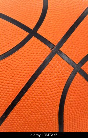 Orange Basketball close up shot - Stock Image