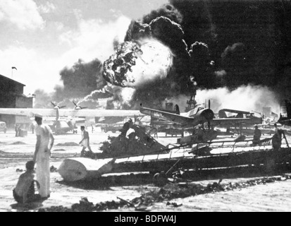 PEARL HARBOUR  Attack by Japan on the US base in Oahu, Hawaii on 7 December 1941 - Stock Image