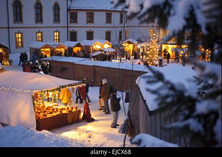 christmas market in Bavaria, Germany - Stock Image