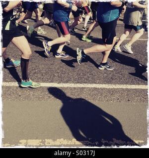 Marathon shadow - Stock Image