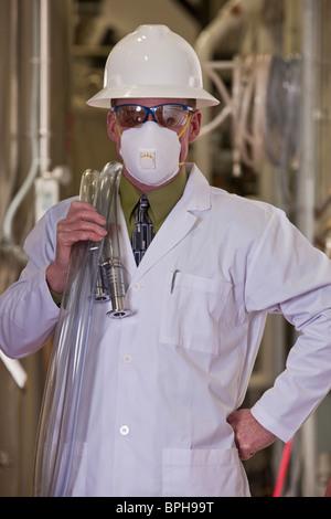 Ingénieur permanent dans une usine de produits chimiques - Image