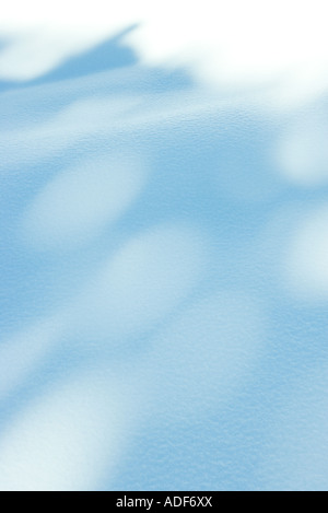 Shadows on snow - Stock Image