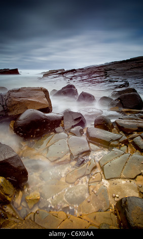seascape with blurry water - Stock Image