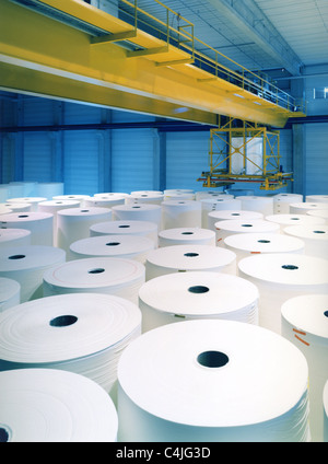 paper mill - Stock Image