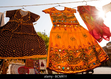 Dresses For Sale In Sadar Market Jodhpur Rajasthan India - Stock Image