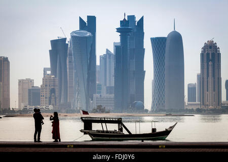Doha Skyscrapers, Doha, Qatar - Stock Image