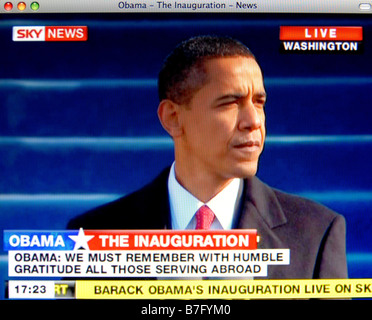 The historic inauguration of Barack Obama on 20th Jan 2009 - Stock Image