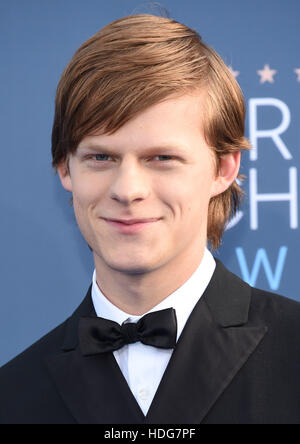 Santa Monica, California, USA. 11th Dec, 2016. Lucas Hedges arrives for the 22nd Annual Critics' Choice Awards - Stock Image