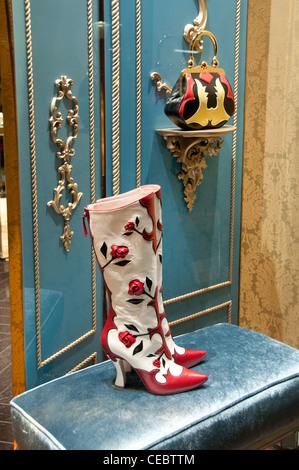 Miu Miu Miuccia Prada Paris Rue Faubourg Saint Honoré France fashion designer couturier - Stock Image