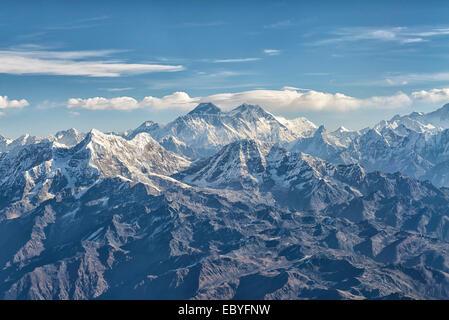 Mount Everest in Mahalangur, Nepal - Stock Image
