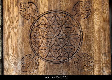 Arbre fleur de vie. La fleur de la vie est un symbole ancien de la géométrie sacrée et représente l'ordre d'établissement de base. - image d'archive