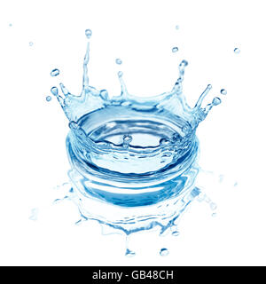 splash water isolated on a white background - Stock Image