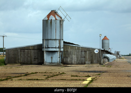 General View of Bernard Matthews turkey farm built on the former wartime runways of RAF Halesworth in Suffolk - Stock Image
