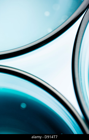 Abstract pattern made of drinking glasses - Stock Image