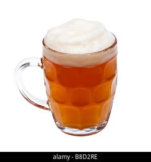 Pinte de bière dans une chope de verre traditionnel - Image