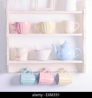 Vintage shelf - Stock Image