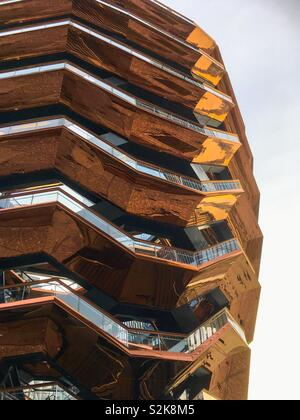 The Vessel, Hudson Yards, New York City. - Stock Image